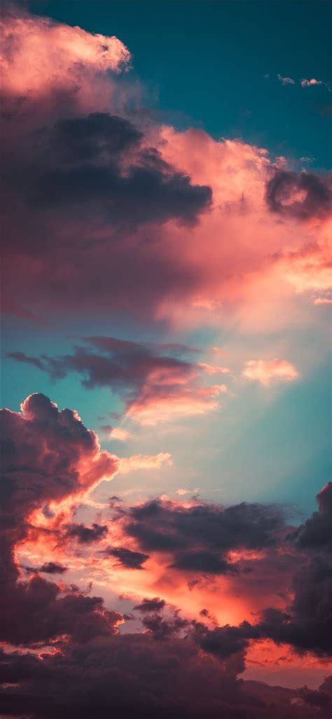 My favourite cloudscape of the year iPhone X wallpaper #