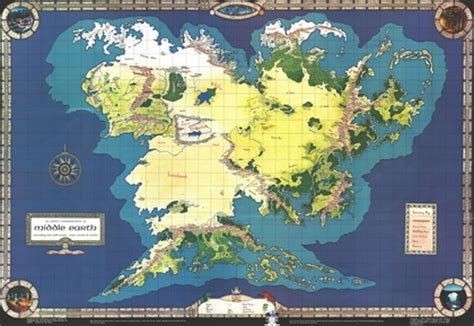 the lord of the rings maps middleearth jrr tolkien