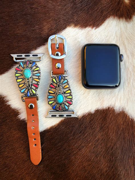 """Saddle Up """" Western Watch Band ( Multi Color ) 