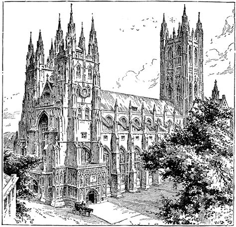 Canterbury Cathedral   ClipArt ETC