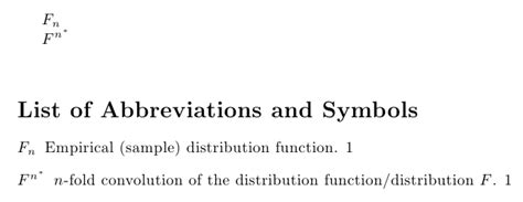 arrays - Page with Symbols and Notation - TeX - LaTeX