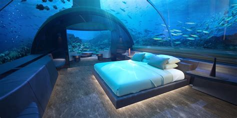 Photos: World's first glass underwater hotel suite at