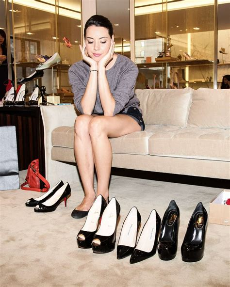 Aubrey Plaza: Shoe Shopping at Barneys in New York for HRC
