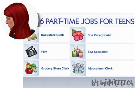 6 PART TIME JOBS FOR TEENS at MIDNITETECH'S SIMBLR » Sims