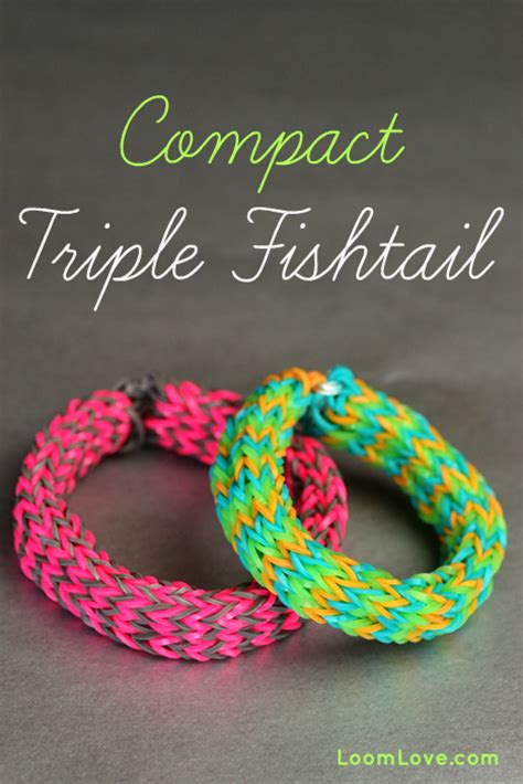 How to Make a Rainbow Loom Compact Triple Fishtail (on the