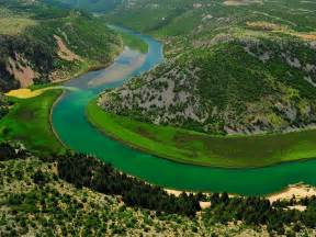 Zrmanja River With Turquoise Blue Water In Croatia