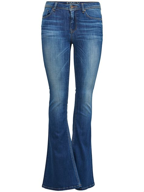 Only Damen Jeans Hose Retro Flared Hose Bootcut Boot Cut