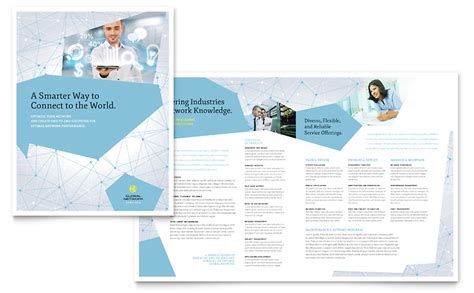 Global Network Services Brochure Template - Word & Publisher