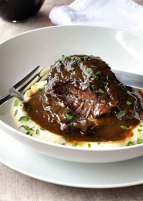 Slow Cooked Beef Cheeks in Red Wine Sauce   RecipeTin Eats