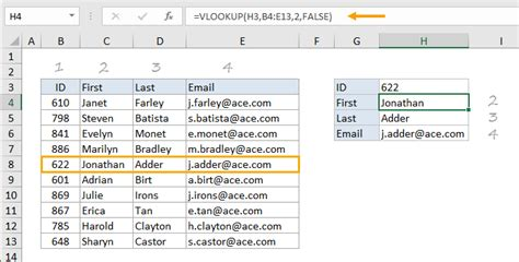 How to use the Excel VLOOKUP function | Exceljet