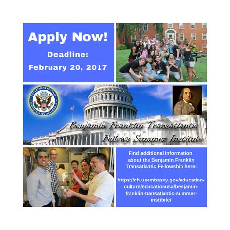 Call for Applications for the 2017 Benjamin Franklin