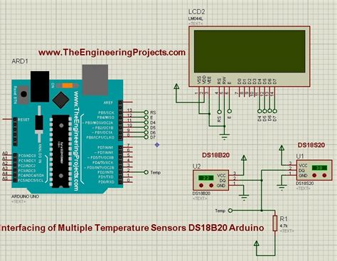 Interfacing of Multiple DS18B20 Arduino - The Engineering